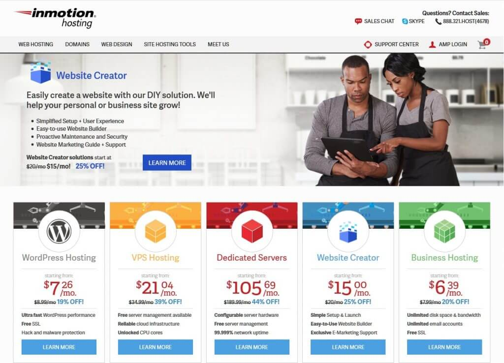 inMotion web hosting provider