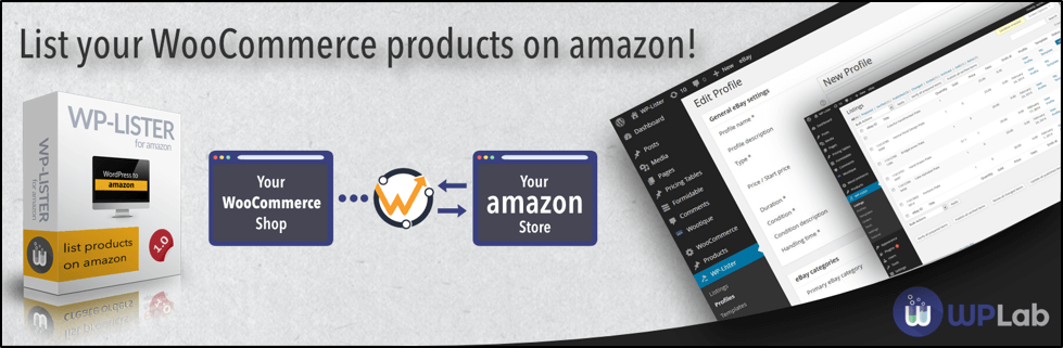 WP Lister software with Woocommerce and Amazon connectivity and tablets